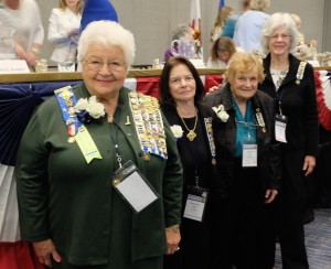 Four of the five Daughters honored for 50 years of membership. (Pictured L-R: Donna Derrick (La Jolla Chapter), Jennifer Bishop (Temescal Chapter), Thelma West (Sierra Amado Chapter), and Kathleen Powell (alliklik Chapter).