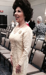 """""""Lady Bird Johnson"""" visits the morning Business Session."""