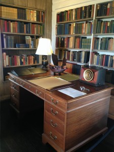 One of two desks in O'Neill's office.