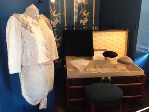 Bedroom closet of Carlotta, O'Neill's third wife. Notice the Louis Vuitton steamer trunk!