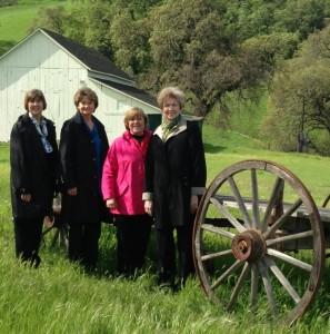 (L-R) Beth Cagle, Development Director, KDS School; Cynthia Parnell, State Regent of Oregon; Adele Lancaster, State Corresponding Secretary and Lavonne Anderson, State Regent of South Dakota.